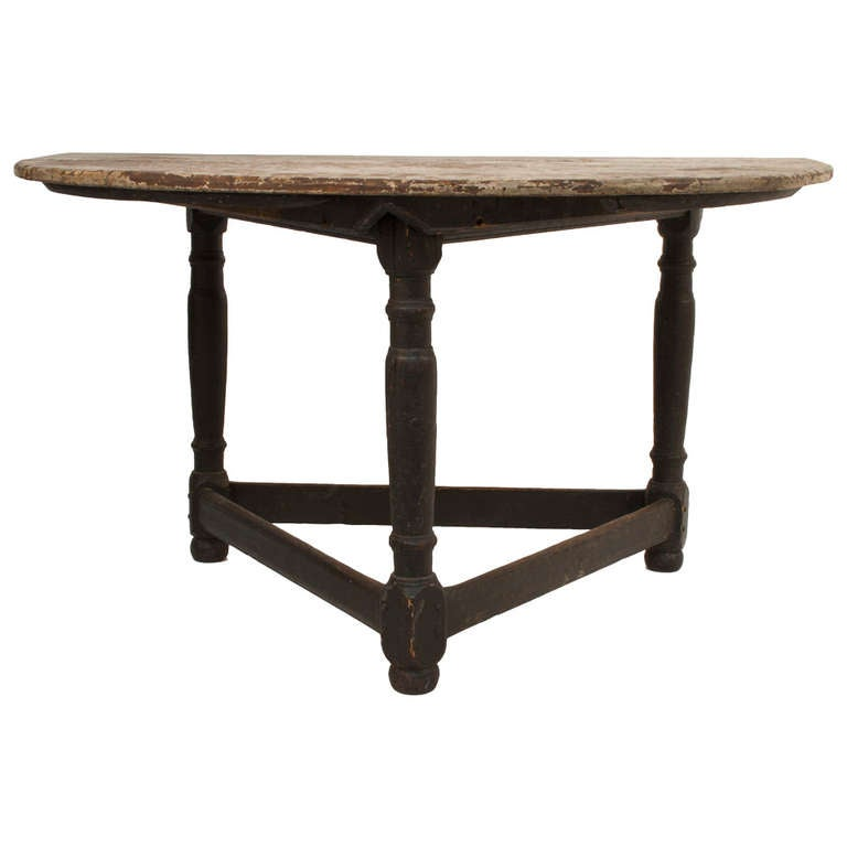 Baroque Demi Lune Table At 1stdibs