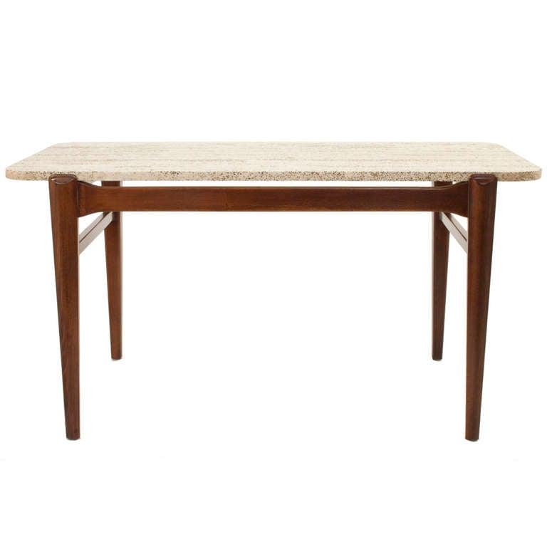 Stone top coffee table set