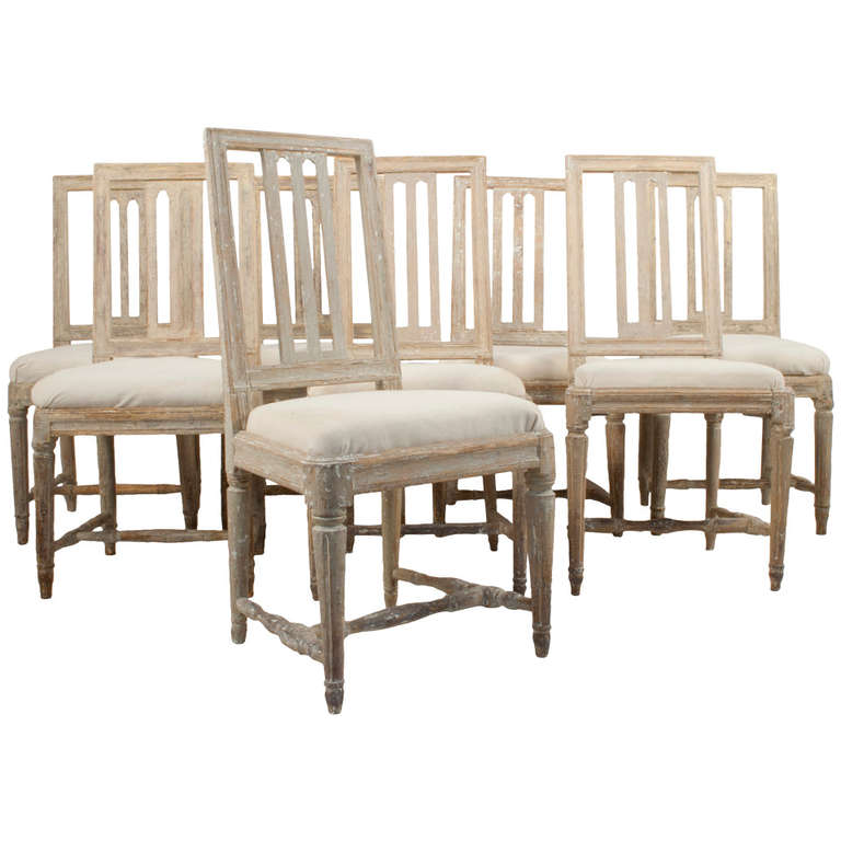 this set of eight gustavian dining chairs is no longer available