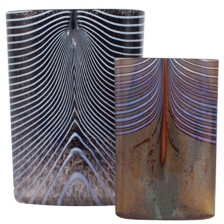 Two Glass Vases By Bertil Vallien At 1stdibs