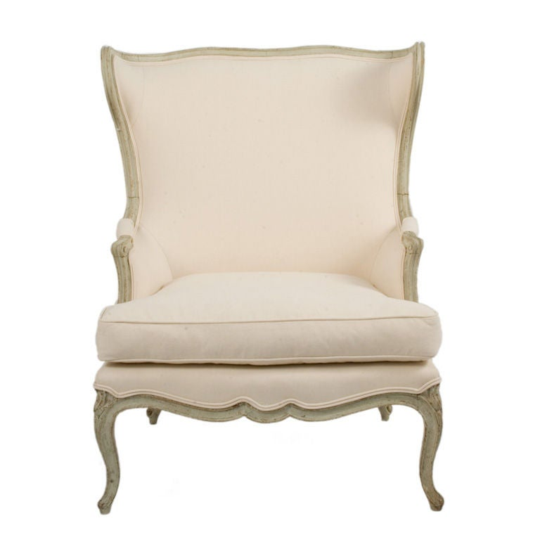 This hand painted hepplewhite style chairs is no longer available - Rococo Lounge Chair At 1stdibs