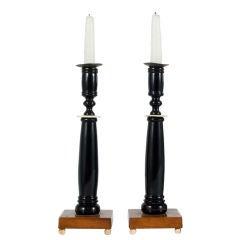 Biedermeier Candleholders