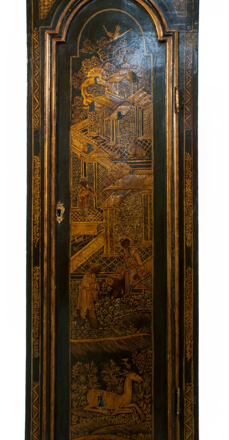 Georgian Grandfather Clock by James Evans at 1stdibs