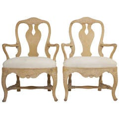 Pair of Rococo Armchair