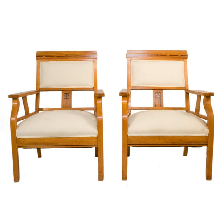 Pair of art deco lounge chairs for sale at 1stdibs - Lounge deco ...