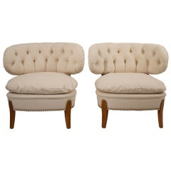 Pair of Otto Schultz Lounge Chairs
