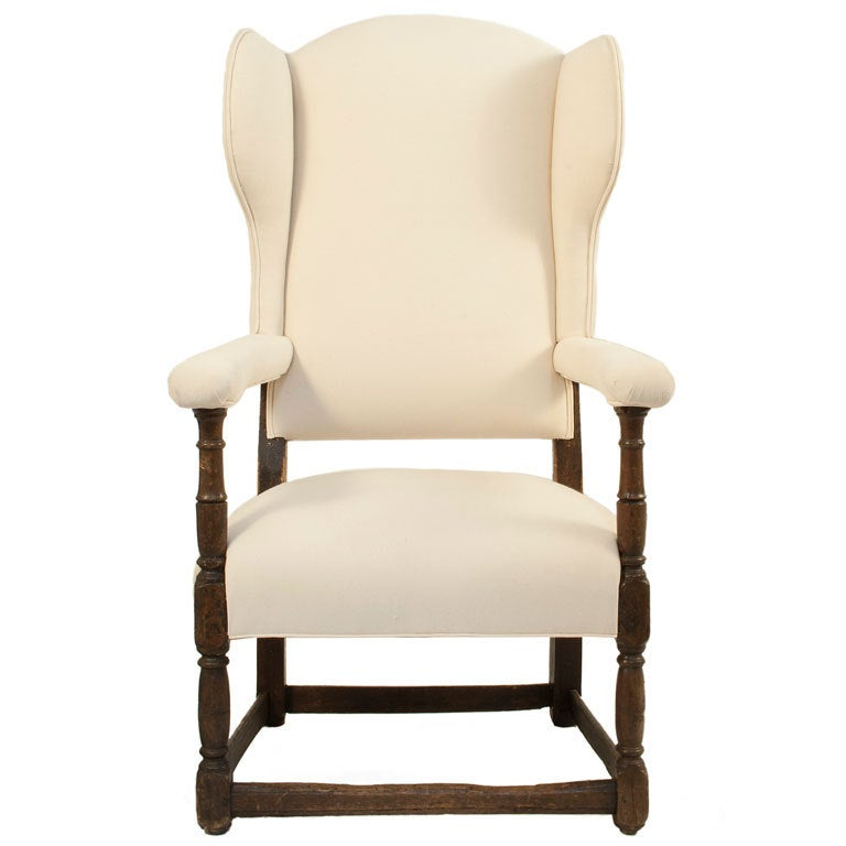 Baroque Wingback Chair At 1stdibs