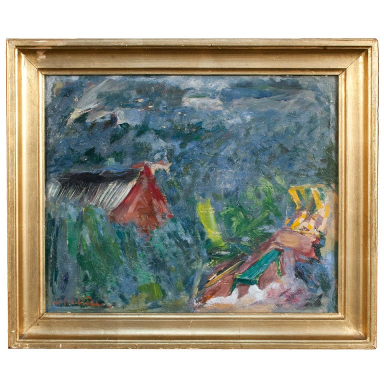 Painting by eric hallstrom for sale at 1stdibs for Eric mural painter
