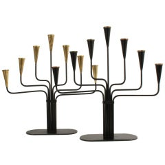 Candelabras by Gunnar Ander for Ystad Metall