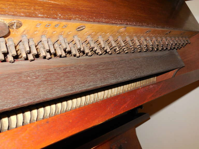Ivory 1856 Victorian Antique Upright Grand Piano For Sale