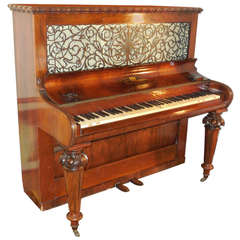 1856 Victorian Antique Upright Grand Piano