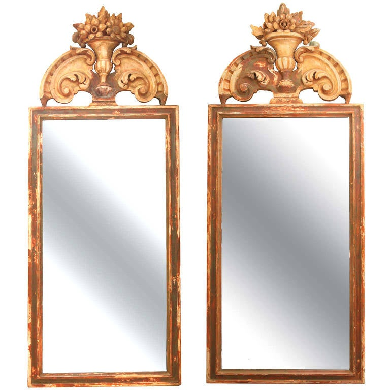Pair of Large Italian 19th Century, Mirrors For Sale