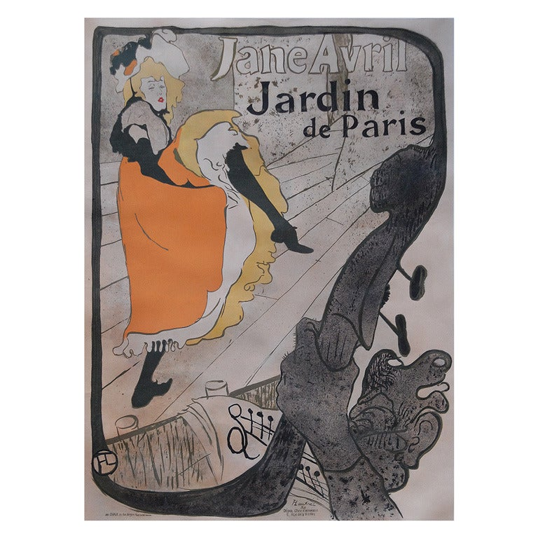 Henri De Toulouse-Lautrec, Jane Avril 1893 at 1stdibs