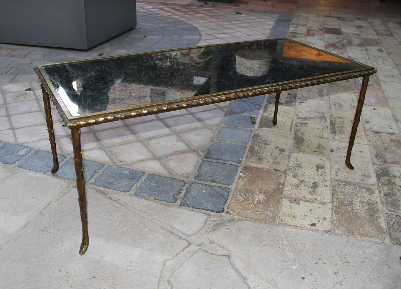 Rare Bronze Table by Maison Baguès, 1950 In Good Condition For Sale In Los Angeles, CA