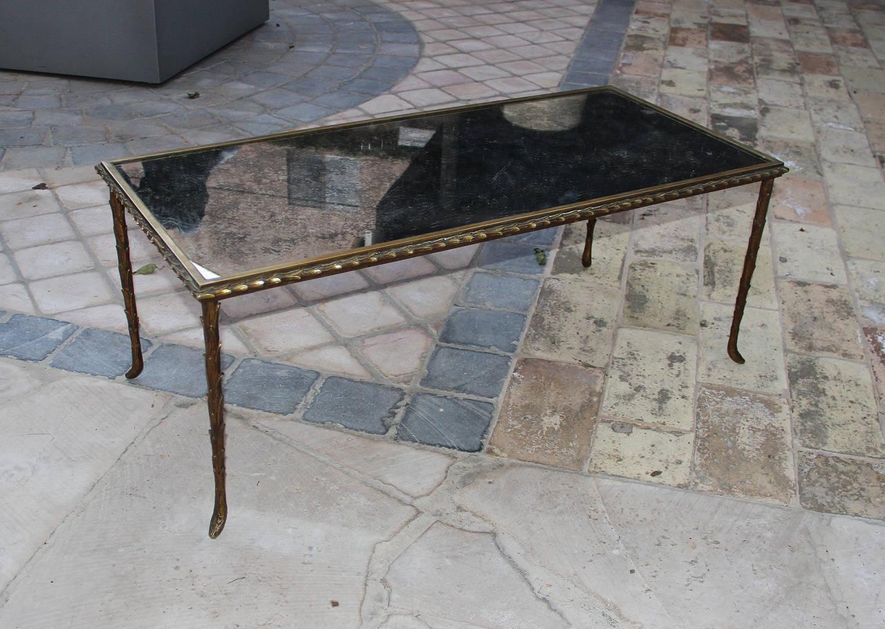 Mid-20th Century Rare Bronze Table by Maison Baguès, 1950 For Sale