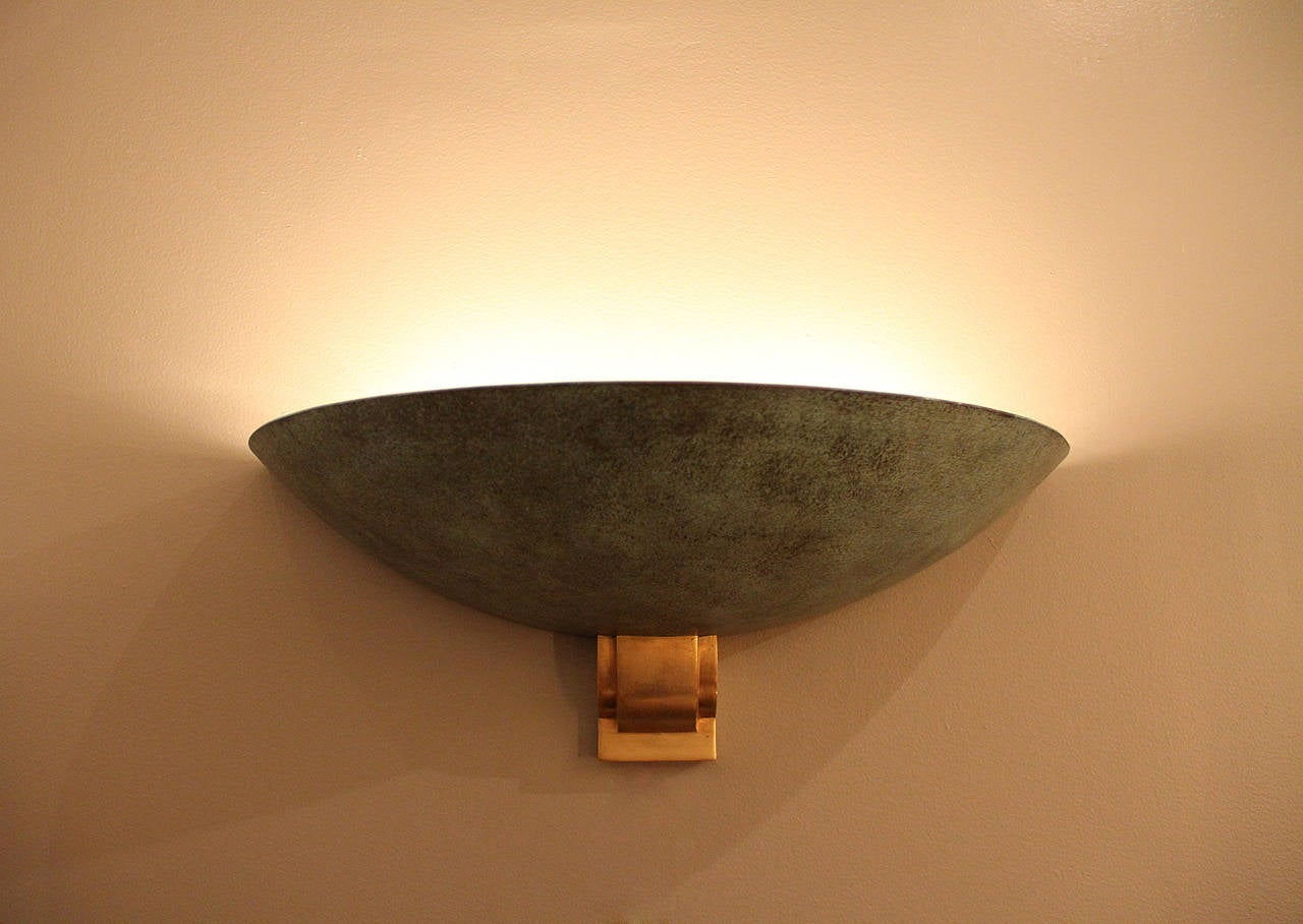 Large Bronze Sconce Attributed to Perzel, 1950 In Excellent Condition For Sale In Encino, CA