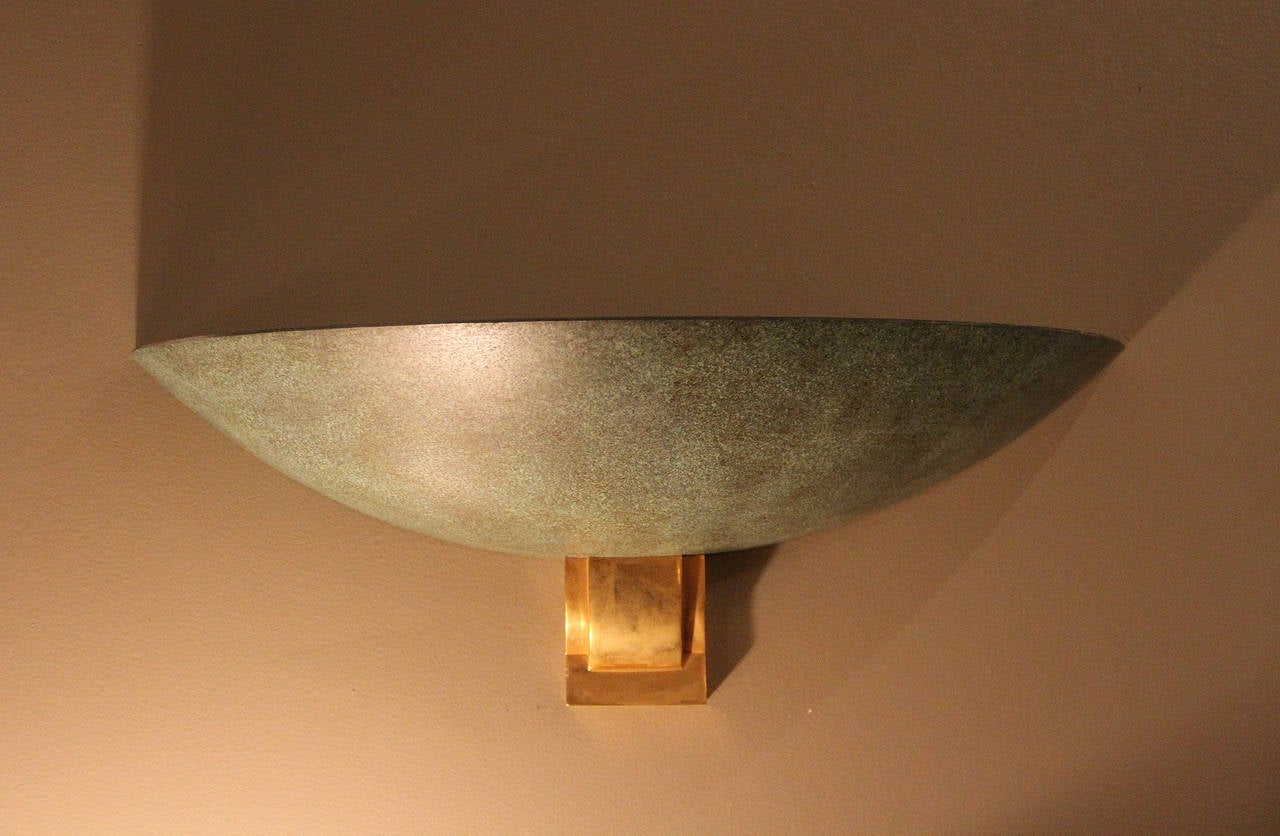 Mid-20th Century Large Bronze Sconce Attributed to Perzel, 1950 For Sale
