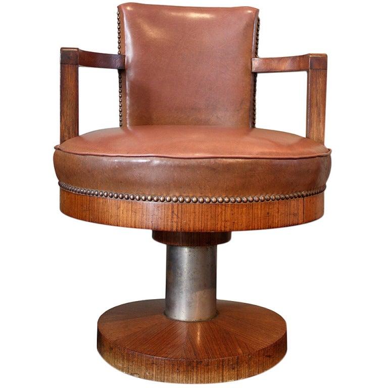Art deco swivel desk chair at stdibs
