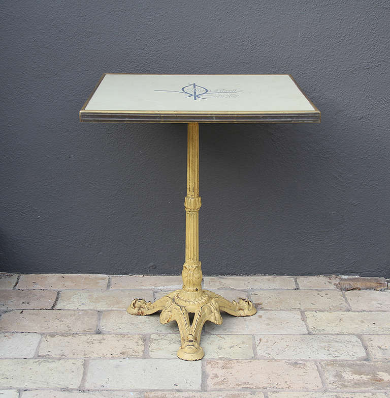 Set Of Six French Parisian Bistro Tables From Bristol Cafe For Sale At 1stdibs