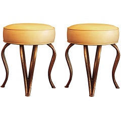 Jean Royère (Attributed to) - Pair of Stools 1960