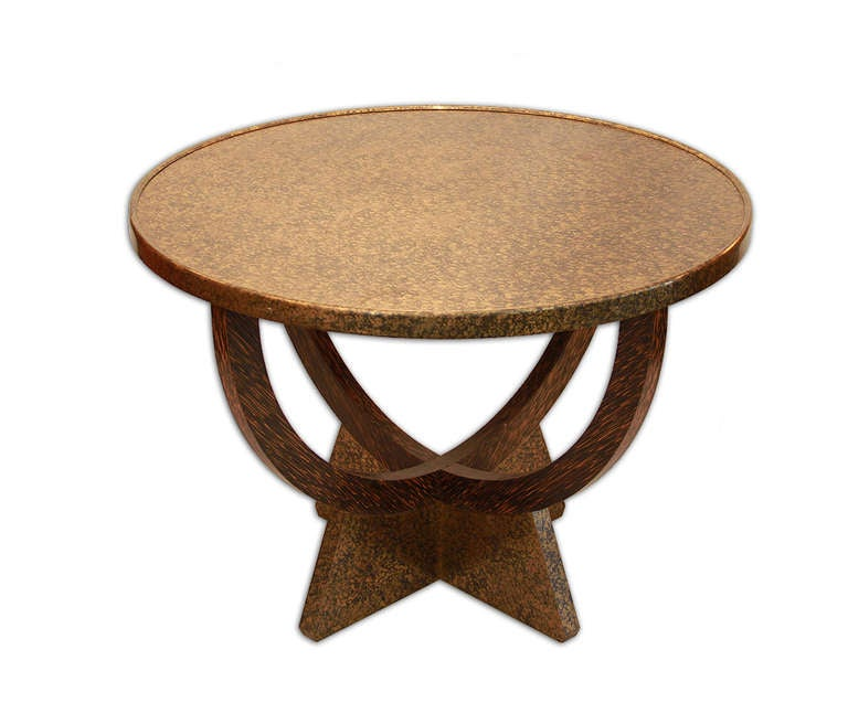 French Eugene Printz, 1935 Palmwood Coffee Table For Sale