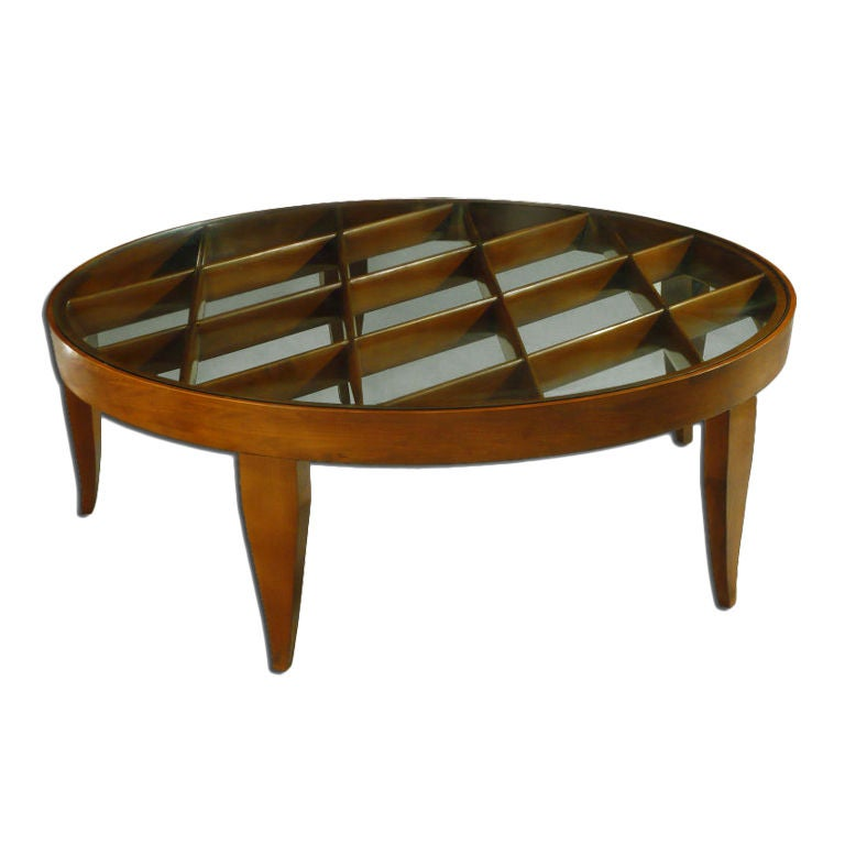 Exceptional Grid Pattern Coffee Table By Gio Ponti At 1stdibs