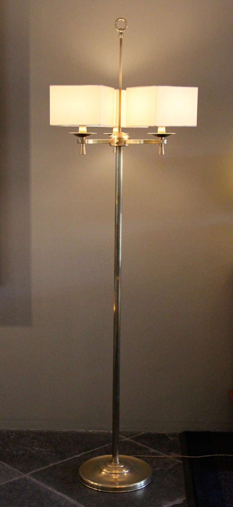 French Prince de Galles, Paris, 1940s, Art Deco Floor Lamps For Sale