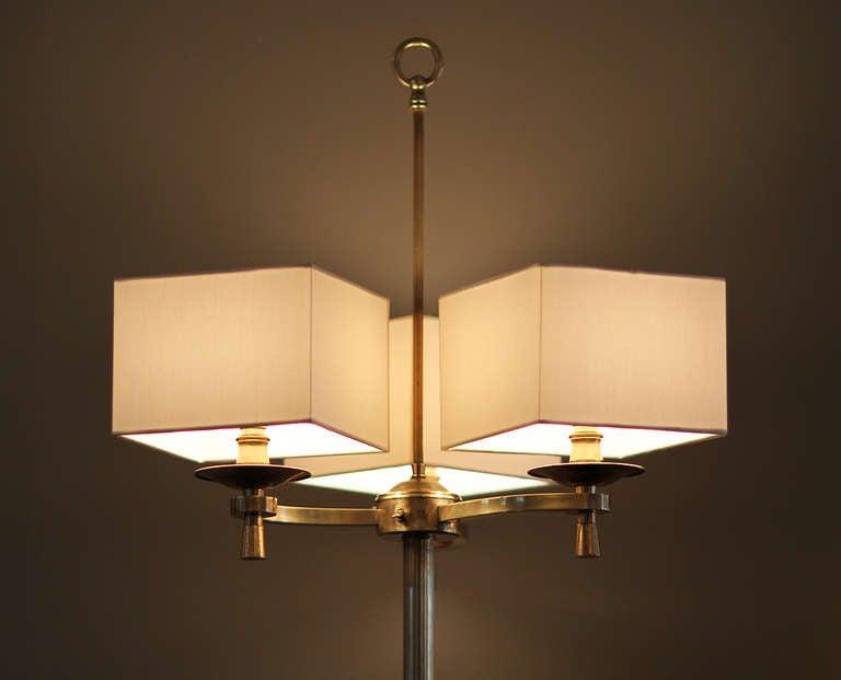 Prince de Galles, Paris, 1940s, Art Deco Floor Lamps In Good Condition For Sale In Los Angeles, CA