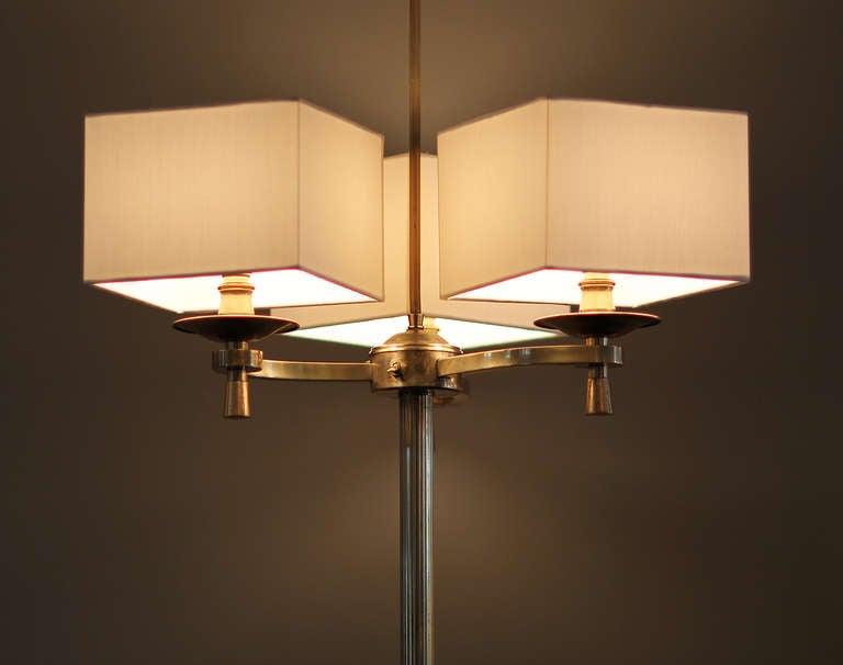 Mid-20th Century Prince de Galles, Paris, 1940s, Art Deco Floor Lamps For Sale