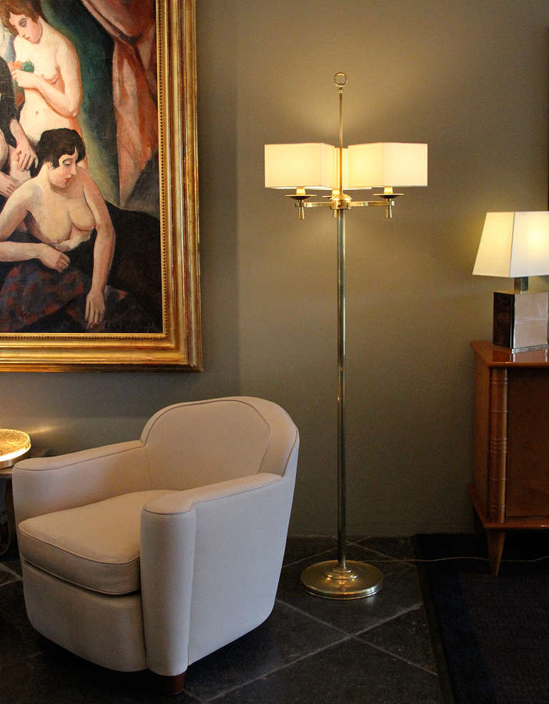 Prince de Galles, Paris, 1940s, Art Deco Floor Lamps For Sale 4