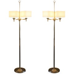 Prince de Galles 1940 Art Deco Floor Lamps