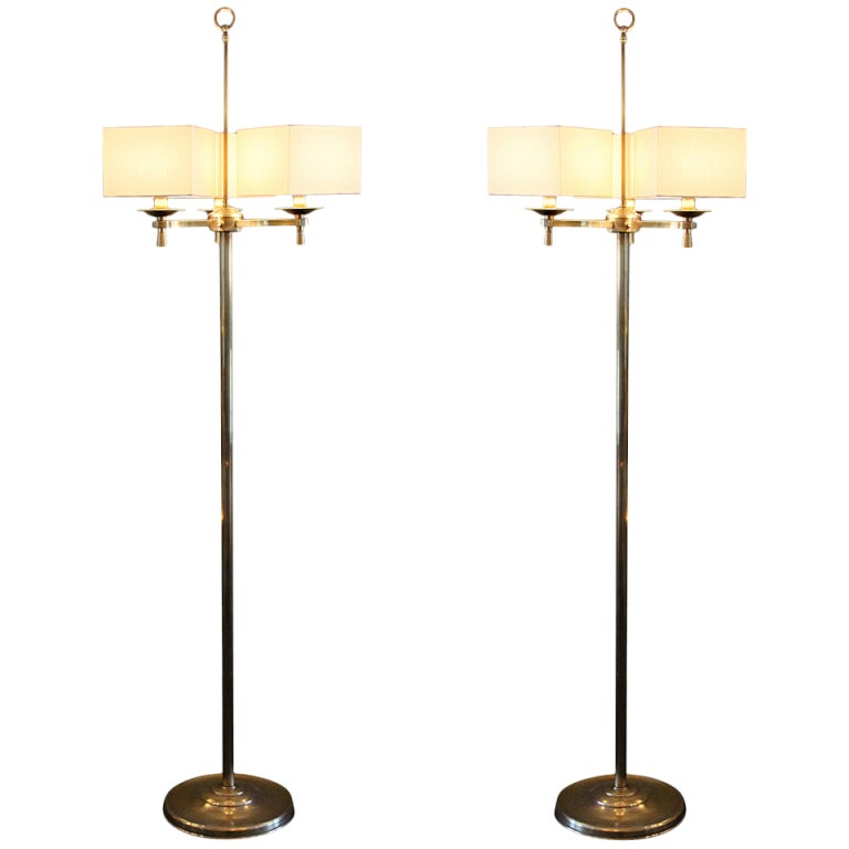 Prince de Galles, Paris, 1940s, Art Deco Floor Lamps