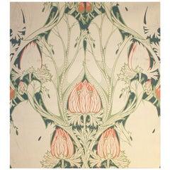 Very Rare Art Nouveau Gouache, Van De Velde 1899