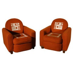 Jules LELEU & Ivan DA SILVA BRUHNS: Pair of Chairs