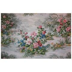 Large Romantic Floral Painting by Richard Vigneux, circa 1967