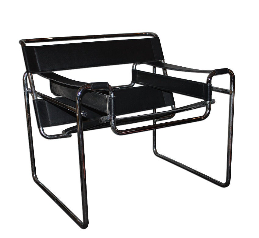 Marcel breuer pair of wassily leather chairs 1970 at 1stdibs