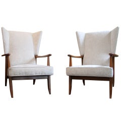 Elegant Pair of Chairs by Boutier 1953