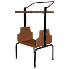 Rare Jacques Adnet Side Table, circa 1950