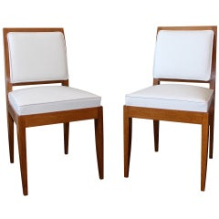 E. J. Ruhlmann Pair of Oak Drouant Chairs