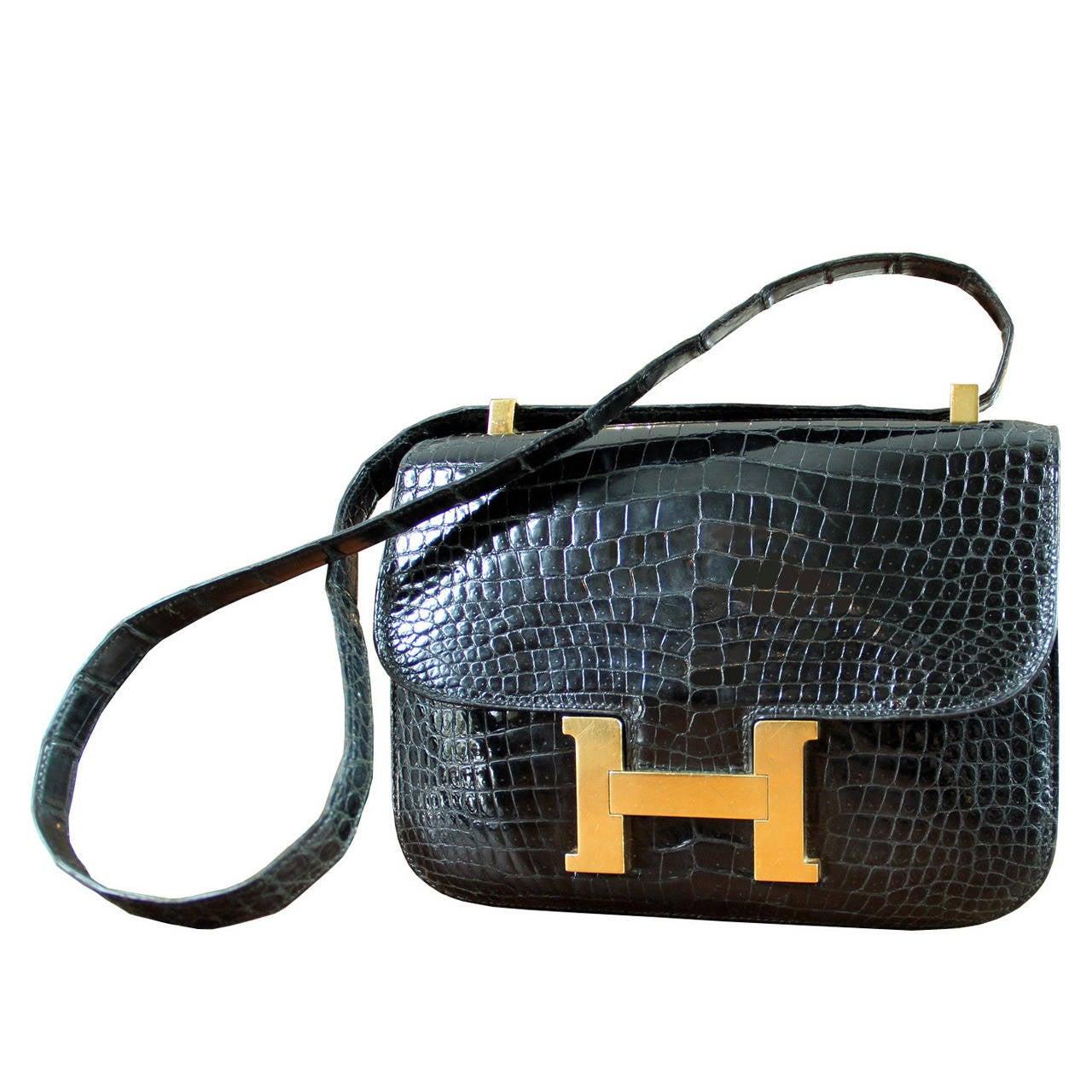 Hermes Crocodile Constance Bag 70ba800bc01c0