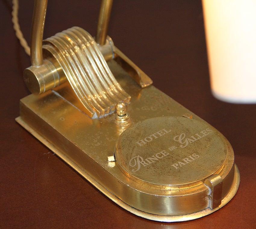 Mid-20th Century Prince De Galles Hotel Paris, Adjustable Bronze Desk Lamp, circa 1930 For Sale