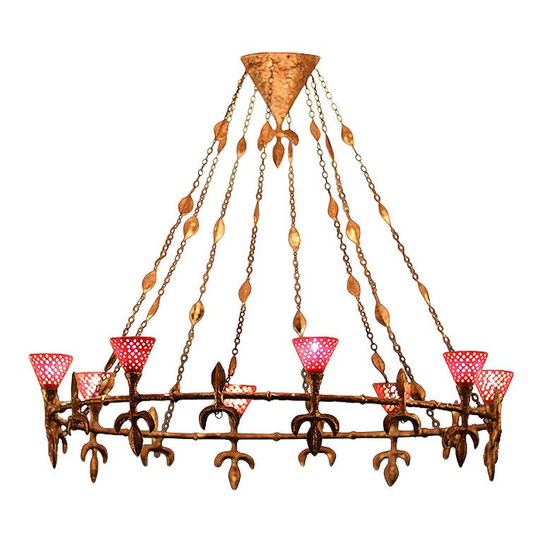 Large Chandelier from Rue Balzac by Coutant