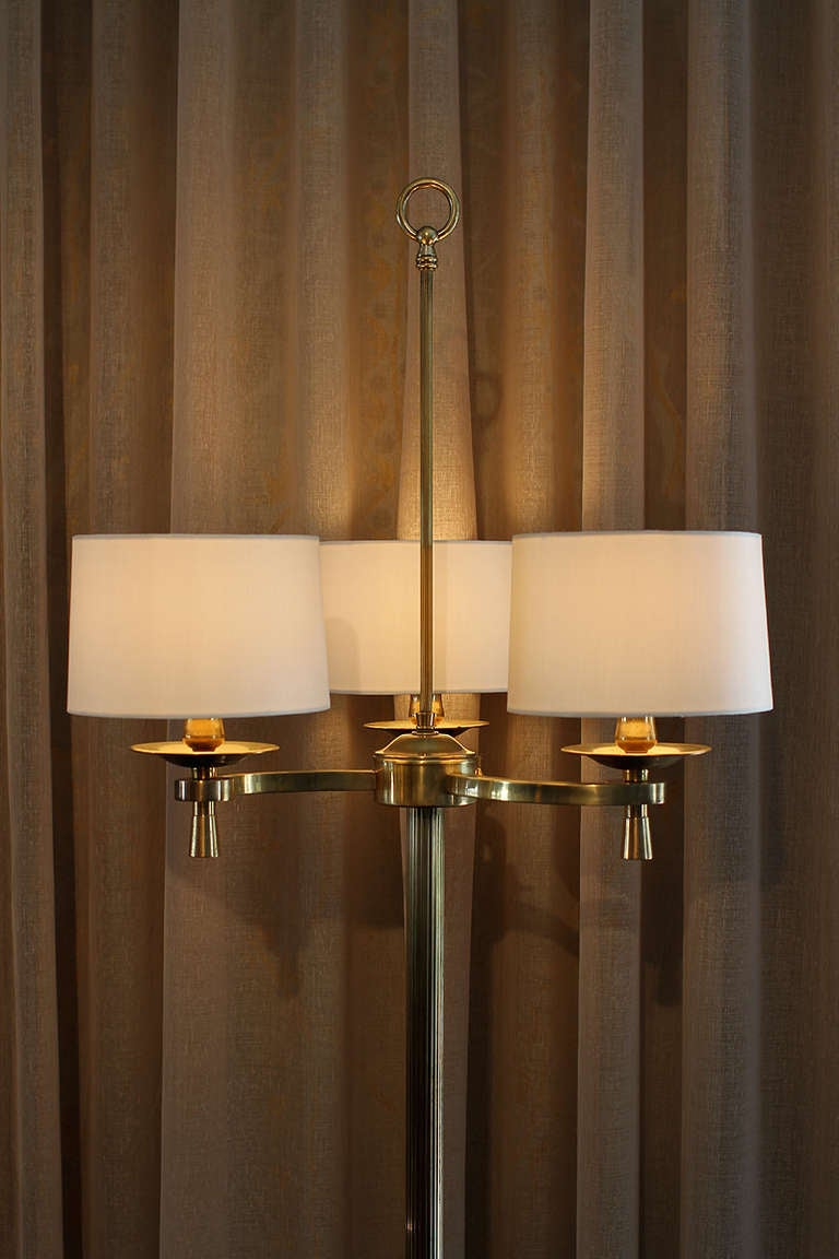 Prince de Galles, Paris, circa 1940 Art Deco Floor Lamps In Excellent Condition For Sale In Los Angeles, CA
