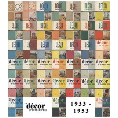 Le Décor D'Aujourd'hui: Very Rare Magazine Collection, 1933-1953