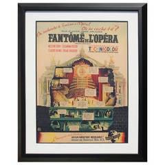 Le Fantome de l'Opera Original Lithograph in Colors, 1943