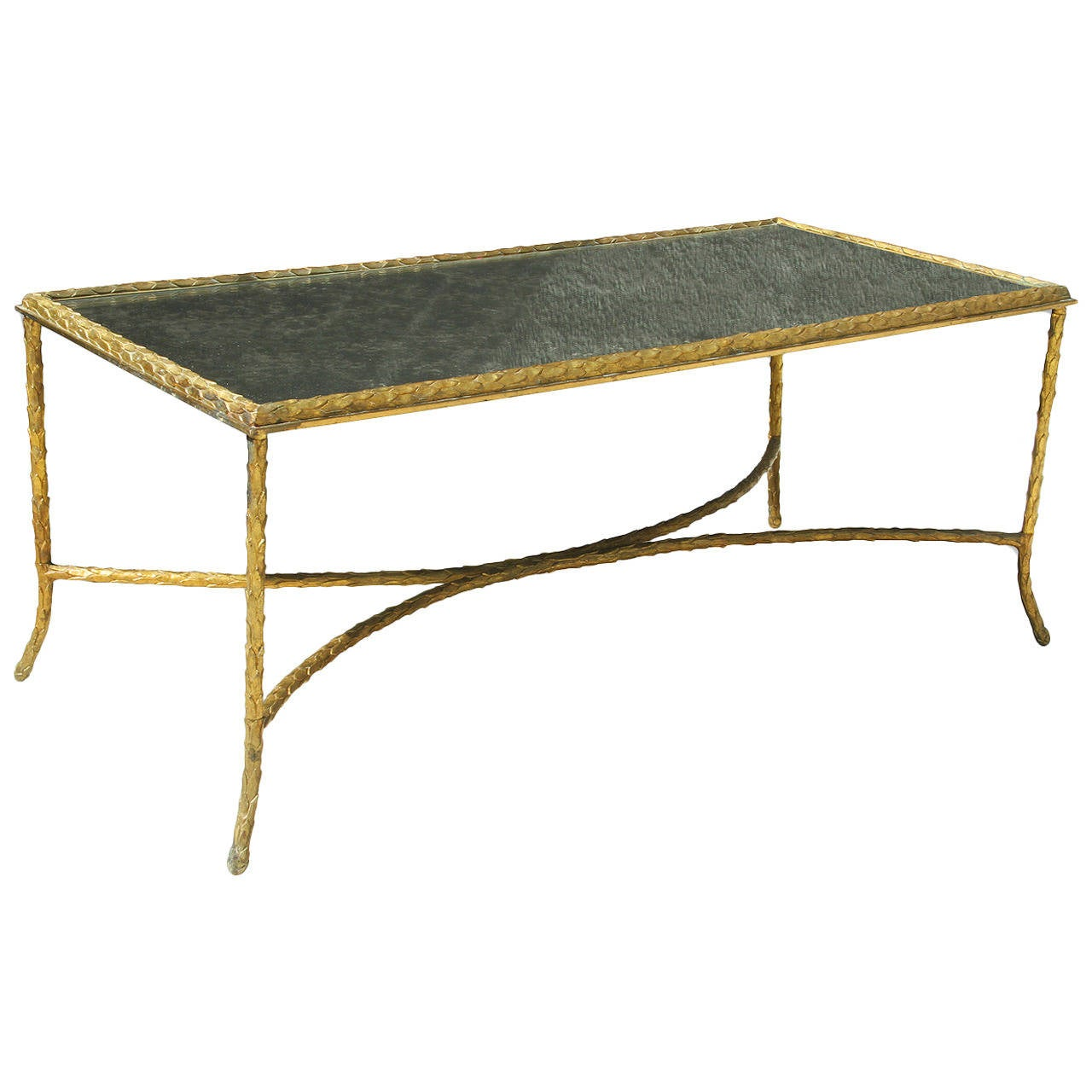 Maison Charles Very Elegant Bronze Coffee Table 1950 At