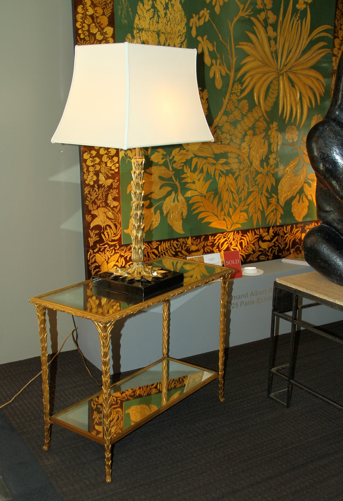 French Pair of Bronze Side Tables by Baguès For Sale
