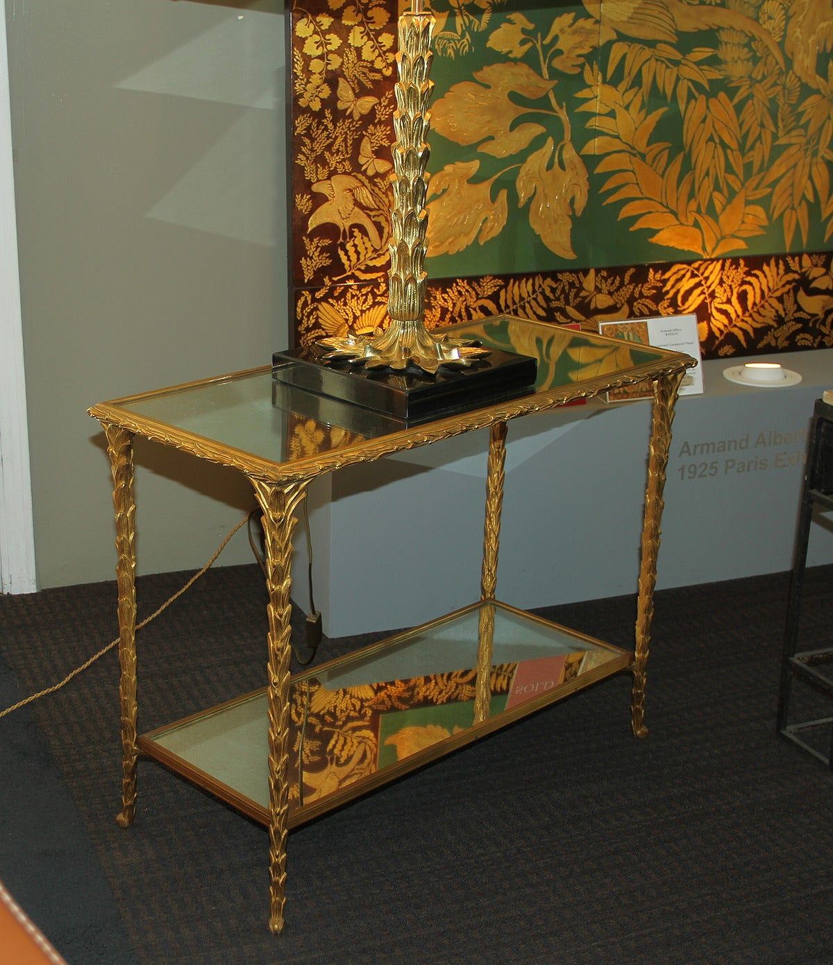 Pair of Bronze Side Tables by Baguès In Excellent Condition For Sale In Los Angeles, CA