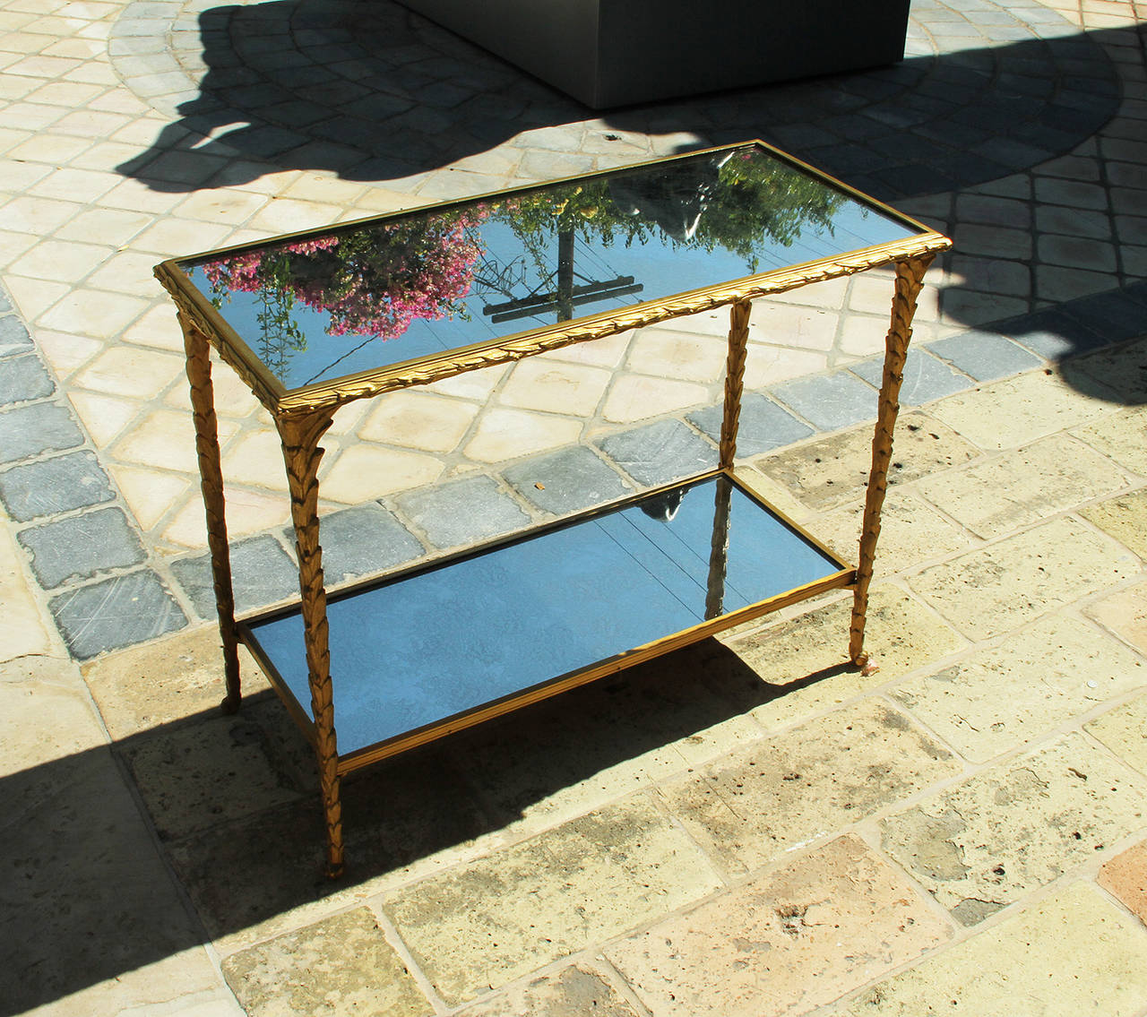 Pair of Bronze Side Tables by Baguès For Sale 3