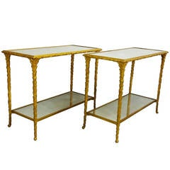 Pair of Bronze Side Tables by Baguès